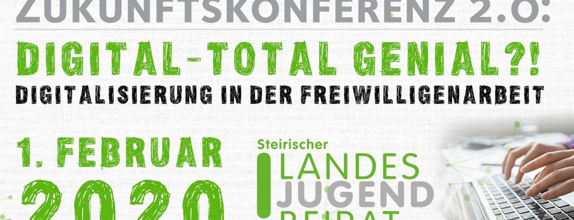 """Zukunftskonferenz """"digital – total genial?! Digitalisierung in der Freiwilligenarbeit"""""""